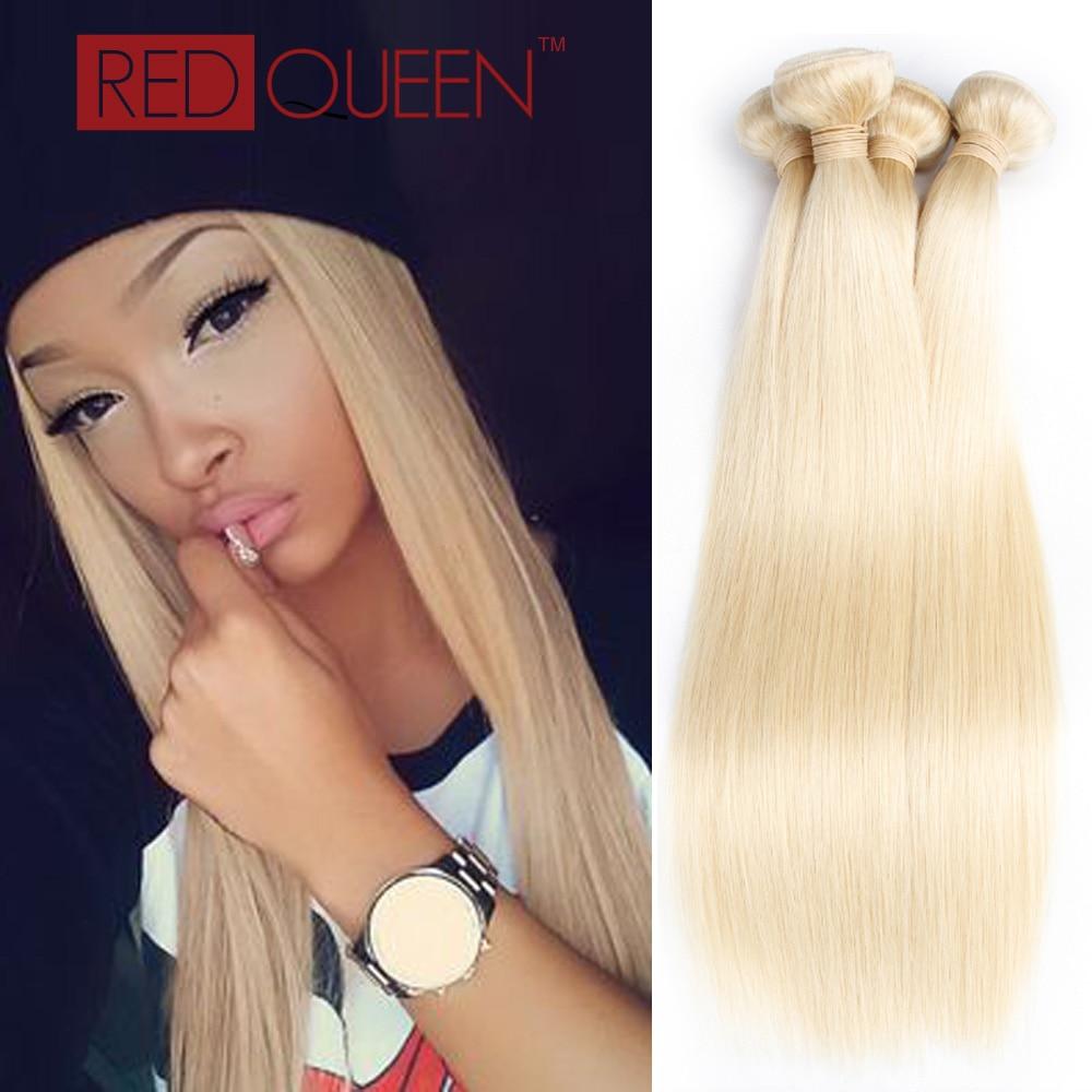 7A Bleach Blonde Brazilian Virgin Hair 3 Bundles  #613 Blonde Brazilian Straight Hair Extensions Straight 12-24 Brazilian Hair<br><br>Aliexpress