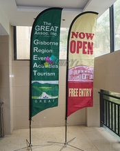 2.5M Custom Feather Flags with Both side printing,5pcs/lot, Outdoor Advertising Display Beach Banner, Free shipping