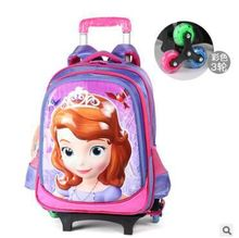 kids Rolling school bag for girls kids school bag with wheels Kids Travel Trolley luggage Bags Children school Wheeled backpacks