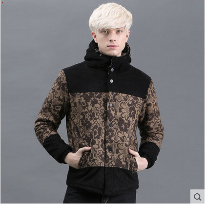 Gurbaks young male cotton jacket slim hooded Korean warm winter Metrosexual students snap stitchingОдежда и ак�е��уары<br><br><br>Aliexpress