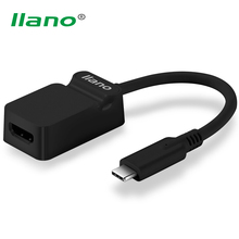 llano USB 3.1 Type C to HDMI Converter Male to Female Adapter USB-C Cable Support 4K for Macebook Chromebook Pixel(China)