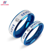 Simple Ring Designer Supernatural Couples Lovers Blue Ring Pendant Very Popular