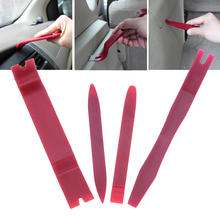 4pcs DIY Car Repair Tool Kit Car Door Panel Clip Dash Radio Removal Pry Molding Trim Kit Opening Tool Set Car Audio Maintenance