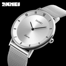 Luxury Brand SKMEI Men Watch Ultra Thin Stainless Steel Clock Male Quartz Sport Watch Men Waterproof Casual Wristwatch relogio(China)