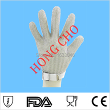 100% stainless steel chainmail metal mesh safety anti glove meat industry hand security protective wire glove gant de travail(China)