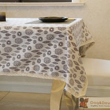 Simple Printed Europe Style Tablecloth High-Grade Tropical Table Cover linen thicken table cloth(China)