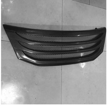 Front Upper Center Grille Grill Trims Black carbon fiber For Honda Crosstour 2011-2012(China)