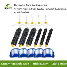 Hepa Filters Bristle&Flexible Beater Brush Side Brushes Kits for iRobot Roomba 500 600 Series (585 595 620 630 650 660 680 690)