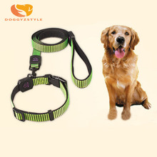 Nylon Reflective Collar Puppy Dog Harnesses And Lead Set Small Dogs Leashes Pet Traction Rope Collars For Doggies  DOGGYZSTYLE