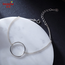 New Fashion Sample 925 Sterling Silver Snack Chain With Round Circle Or Star Bracelets Women Fashion Jewelry Holiday Gift