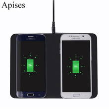 Buy 2 1 Dual Wireless Charger iPhone 8 Plus Universal Qi Charger Phone Wireless Charging Pad Sony Z3V Z4V for $25.38 in AliExpress store