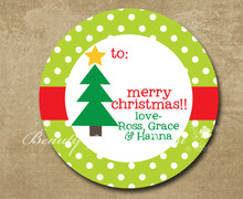 Coustom Holiday Christmas Stickers,Christmas Tags,Gift Labels for Christmas,Cupcake topper,Christmas Decorations Box Green(China)