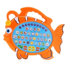 New Product Hot Sale Colorful Kids Fish Music Learning Machine Electronic Alphabet Board Animal Themed Educational Toy(China)