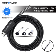 DBPOWER USB Endoscope 2MP HD IPX67 Snake Camera Inspection Mini Camera 15/10/7/5M 8.5MM Lens 6 LED Borescope Snake Video Camera
