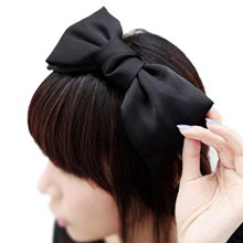 SYB 2016 NEW 1X Sweet Cute Korea Style Big Bowknot Hair Band Bow Headband(black)