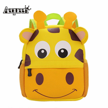 AEQUEEN Cute Kid Toddler Animal Design Backpack Kindergarten Schoolbags 3D Cartoon Dog Monkey Shaped Children Backpacks(China)