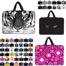 7 10 12 13 14 15 17 Neoprene Laptop Bag Netbook Sleeve Handle Pouch For Notebook Computer Bag 13.3 15.4 17.3 For Macbook Toshiba