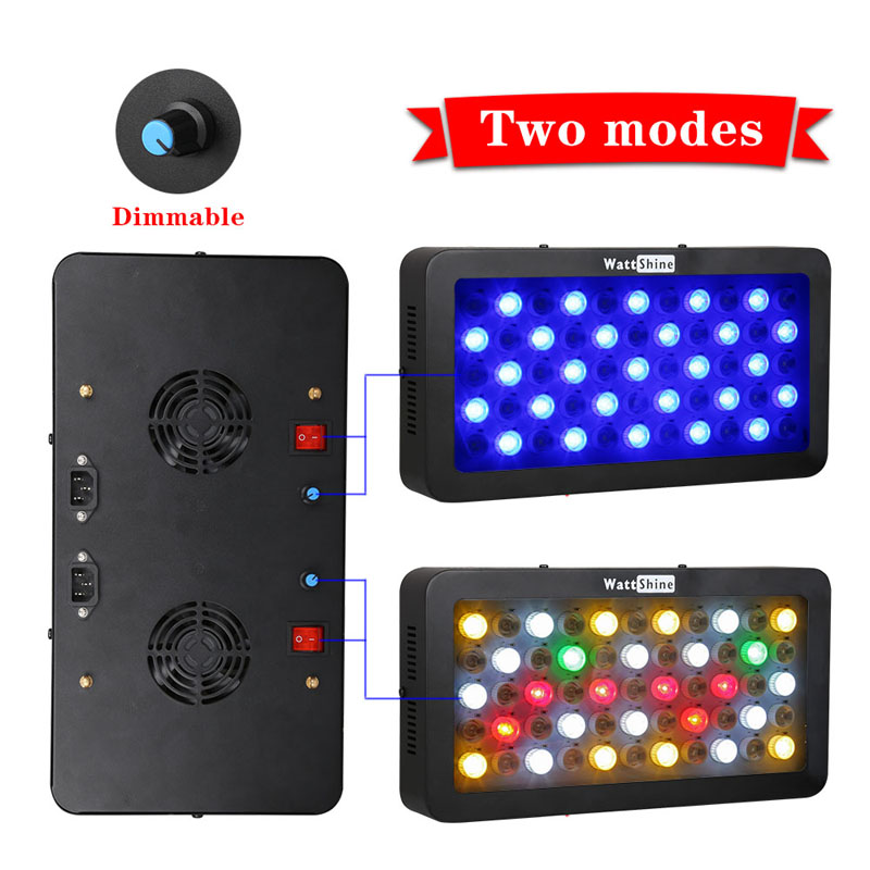 Aquarium Hood Fish Tank LED Light (Blue Red White) Lighting Color Changing Controlled Dimmable Used for Freshwater and Saltwater (28)