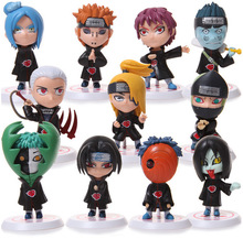 Anime Figure 11pcs/set Naruto Akatsuki  Itachi Pein Conan Deidara Zetsu Orochimaru PVC Action Figure Collectable Model Toys