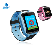 1.44' Touch Screen Smart GPS LBS Tracker Location SOS Call Remote Camera Monitor Flashlight Kids Child Watch Wristwatch PK Q90