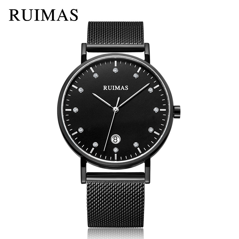 RUIMAS Luxury Quartz Men Watch Brand Business Watches Relogio Masculino Army Military Wristwatches Clock Men Erkek Kol Saati<br>