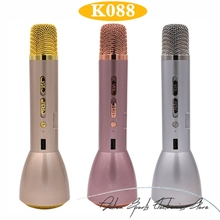 3 In 1 Wireless Bluetooth Microphone With Bluetooth Speaker & Power Bank Magic Karaoke Microphone K Song Outdoor KTV K088
