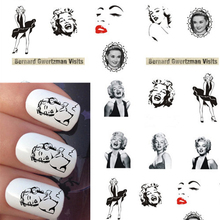 1 sheet Sexy Hot Women Nail Art Water Transfer Sticker Watermark Decals Foils Polish Wraps DIY Fashion Tips Decoration BEST09(China)