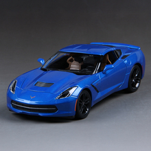 Corvette C7 Z51 Blue 1:18 Diecast Car Model Metal Racing Vehicle Play Collectible Models Sport Cars toys For Gift