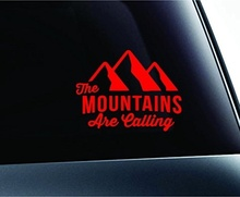 Car Styling Mountains Are Calling Hike Hiking Adventure Outdoors Camping Computer Love Car Truck Sticker Window