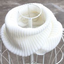 Hot 120*30cm Yarn Knitting Ring Scarf Men Women Circular Warm Scarves Male Female Wraps Capes Knitted Scarfs Black khaki white(China)