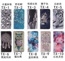 Flip PU Leather Case for Asus Zenfone 2 Laser ZE550KL 5.5 inch Stand Wallet Case Owl Tiger Lion Pattern Cover with Card Holder