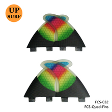 FCS Quad Fin Colorful Surfboard Fibreglass Fins FCS G5+K2.1 Quilhas Rainbow Honeycomb Fins(China)