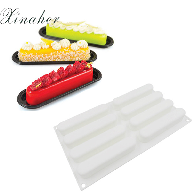 XINAHER-Silicone-3D-Paris-Brest-Eclair-Baking-Cake-Mold-For-Cookies-Chocolates-Candies-Ice-Cubes-Bakeware