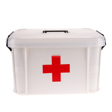 Family Home Portable Medicine Chest Cabinet Health Care Plastic Drug First Aid Kit Box Storage Box Chest of Drawers