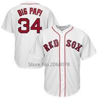 mens Baseball jersey 34 David Ortiz Jersey Flexbase retired Patch Big Papi Final season Customize any player name and number