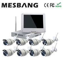 Mesbang 720P home cctv ip camera system wireless 8ch nvr 10inch monitor delivery by DHL Fedex free shipping(China)
