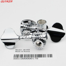 1 pcs Right or Left Electric Bass Guitar Tuning Pegs Machine Heads Knobs Tuners High Quality Chrome(China)