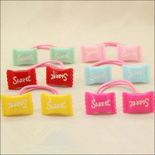 M MISM Double Head Candy Elastic Hair Bands Colorful Scrunchies For Children Cute Rubber Bands Kids Accessories New Hair Rope(China)