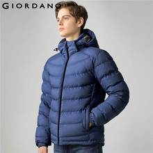Giordano Men Down Jacket Stand Collar Detachable Hood Jacket Long Sleeves Solid Casual Winter 90% Down Filled Coat Brand(China)