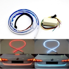 1 Set Four Function In one LED Car Tail Warning Light Steering Turn Signal Backup Brake Stop Lamp Three Colors Styling Source