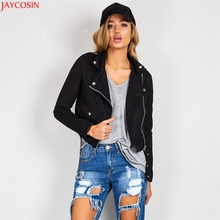 Luck Dog Womens Sexy Winter Slim Biker Motorcycle Leather Jacket Zipper Coat