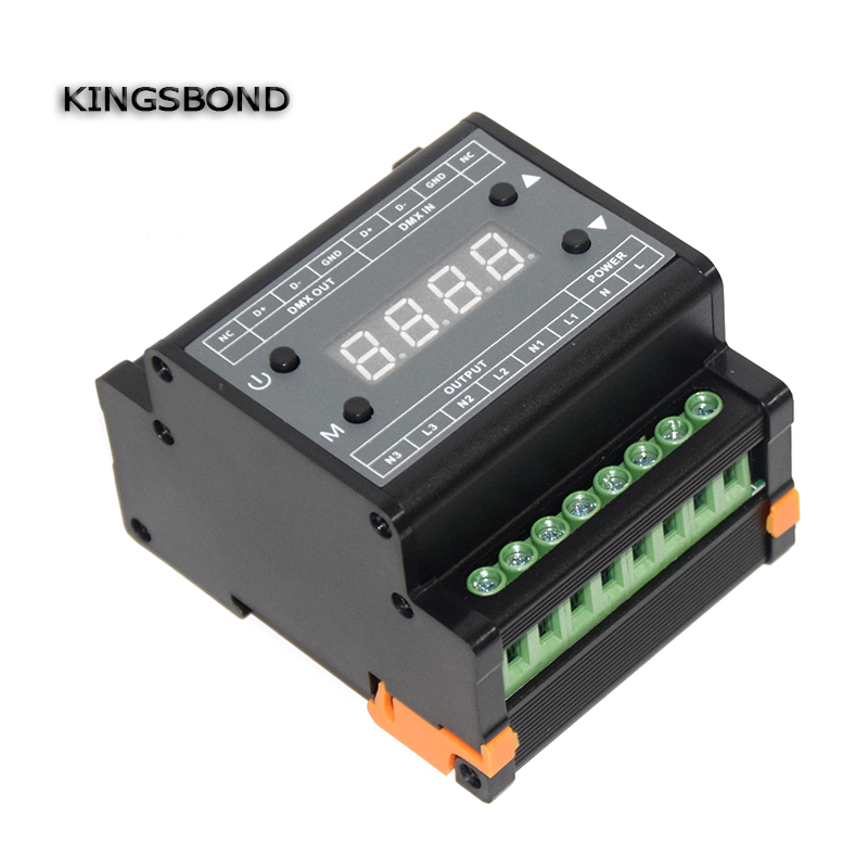 AC110V 220V DMX302 DMX triac dimmer led brightness controller  50Hz/60Hz high voltage 3 channels <br>