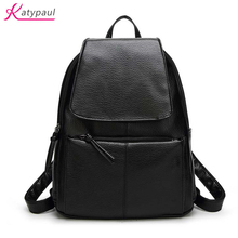 Kanken 2017 New Women Backpack PU Leather Lady Fashion Backbags Cute School Bags For Teenager Girls Packbag High Quality Mochila
