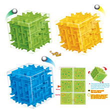 Children Education 3D Cube Maze Puzzle toys kids learning Maze toys Mind Brain Teaser Labyrinth Puzzles Game Toys For Children