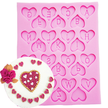 F1090 DIY Cake Decorating Loving Heart Letter Lace Shaped Fondant Silicone Cake Molding Sugar Art Tools, 9.6*12*0.6CM