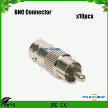High Performance CCTV accessory BNC connector Female Jack to RCA Male Plug Adapter BNC/F-RCA/M 10pcs/lot(China)