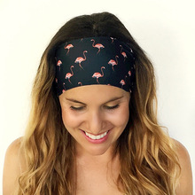 Women New Exercise Fitness Headband Fashion Hot Sale Korean Style Printed Multicolor Headband Lovely Hair Ornaments P30
