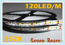 Non waterproof SMD 3528 120Led/m 5M 600 Led Strip light DC 12V Flexible LED Strips, White/Warm white/Blue/Red/Green/Yellow