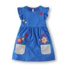 Baby Girls Dress 2018 Summer Floral Dress Princess Costume Unicorn Party Vestidos Kids Dresses Girls Children Clothing )