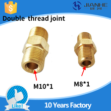 Buy M8*1 M10*1 Double Male thread joint/tubing joint/lubricating pump accessories/distributor double pipe joint/fitting